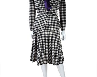 VALENTINO Vintage Miss V Two Piece Checked Suit (42)