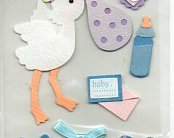 Baby Boy 3D Stickers Scrapbook Embellishments Cardmaking Crafts Sandylion Essiantials