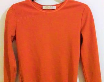 Vintage 1990s Miu Miu Retro Orange Top