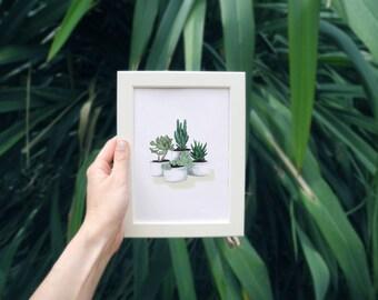 Baby plants - drawing illustration print Art