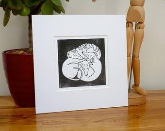 Whippet lino print, whippet art print, whippet art, whippet gifts, whippet print, greyhound art, greyhound gifts, lurcher art dog lino print