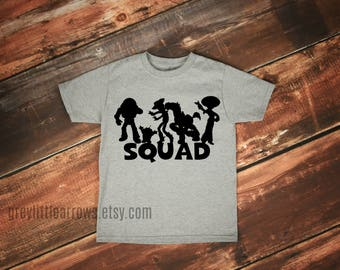 SALE! Toy Story Squad Tee, Disney Shirt, Disney Trip Shirt, Boy Disney Tee, Girl Disney T-Shirt, Disney Family, Sibling Shirts, Squadgoals