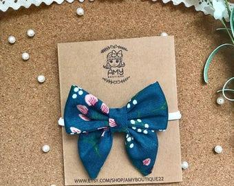 Ready to Ship | Fabric  Bow | Baby Headband  | Baby clips | Kids Bows | Sailor Bows |
