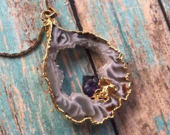Vintage Amethysts  Native American Necklace