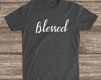 Blessed Dark Heather Grey Unisex T-shirt - Blessed Shirts - Blessed Shirts for Women