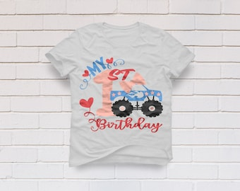 1st birthday svg, First Birthday svg, Monster Truck svg, 1st Birthday Shirt, One Years old svg, Cricut, Cameo, Clipart, Svg, DXF, Png, Eps