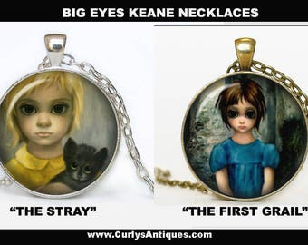 Big Eyes Margaret Keane Necklace The Stray and The first Grail
