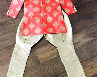 Red Kids Sherwani/ Kids boys Sherwani/ Boys Indian wear/ Boys Kurta Salwar