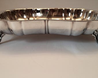 5th Avenue Silver plate Divided Serving Dish