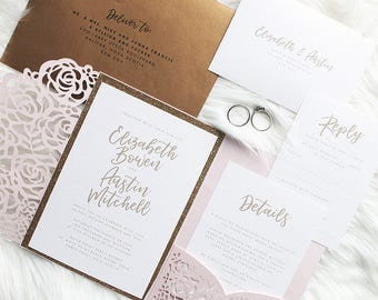 DIY PRINTABLE Wedding Invitation Template / Vintage Inspired Elegant Invitation