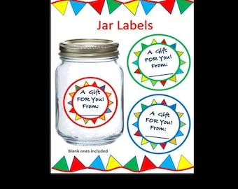 Gift Jar Labels