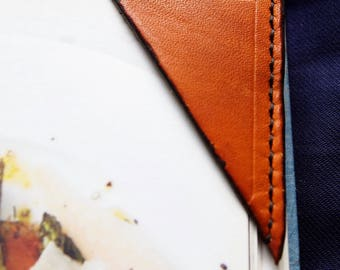 Leather bookmark - Book / notebook/ journal page corner marker