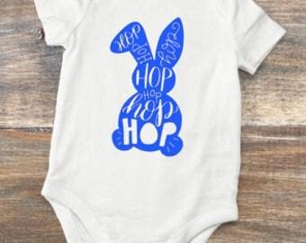 Personalized Hop Bunny Boy Bodysuit