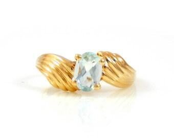 Aquamarine 14K Gold Ring - X2595
