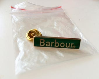 Barbour pin bagde