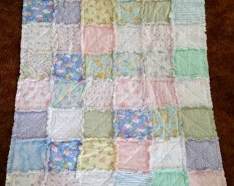 Handmade Raggedy Flannel Baby Blanket