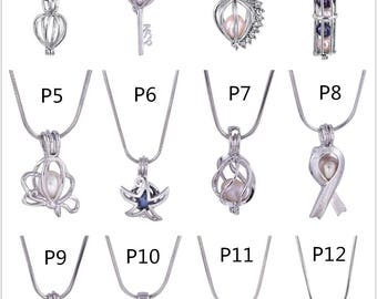 1PCS Cage Pendant,Locket Charms,Pearl Cage,Locket Cage pendants For Akoya Pearl Oysters With Pearls,Bulk Wholesale,HBCP-MIX-1
