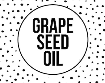 GRAPE SEED OIL - Grapeseed Oil - Vegan Skincare - High Linoleic - Non-Comedogenic -Oil Cleansing - Facial Oil - Acne - 2 oz