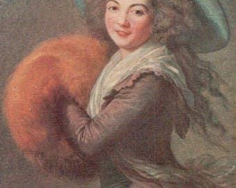 Portrait de Mme Mole-Raynmond. - Postcard - Blank
