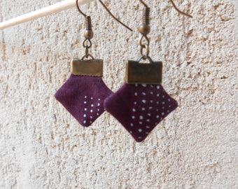 Textile earrings light - unique