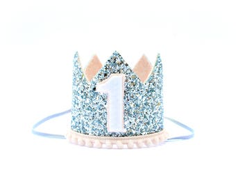 Birthday Girl Crown | First Birthday Girl Outfit | Cake Smash | Glitter Crown