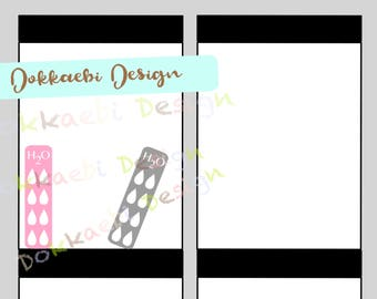 Hydrate Mini Tracker, planner stickers, water trackers, H2O tracker