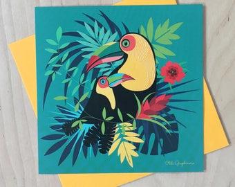 Toucans card