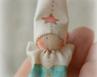 Pocket doll. Tiny baby doll. Small Waldorf doll. Pocket heart dolls. Baby Gnome. Waldorf.