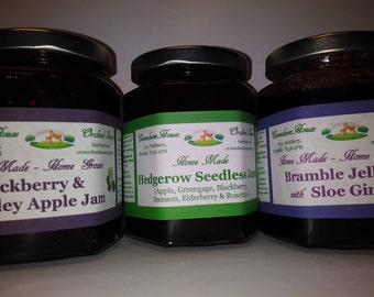 3 x 300g jars different 'Blackberry Time' Preserves - HOME MADE Jam, Jelly & Seedless