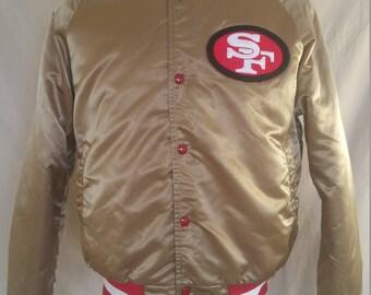 Vintage Satin Chalk Line Jacket - San Francisco 49ers - Medium - EUC