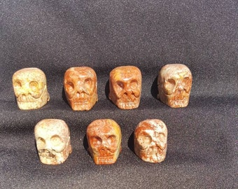 Soapstone skull hand carved from Peru - Carved Skull - Soapstone totem