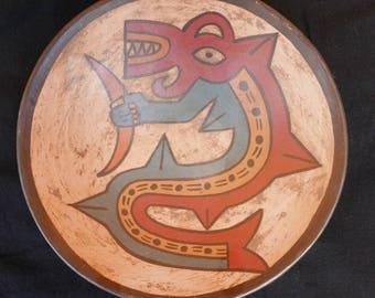 Provenance Peru painted plate