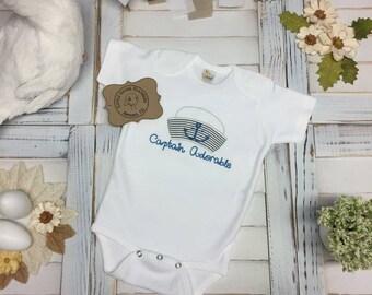 Captain Adorable, Sailor Themed, Bodysuit, Baby Shower Gift, Holidays, Birthdays, Boys, Special