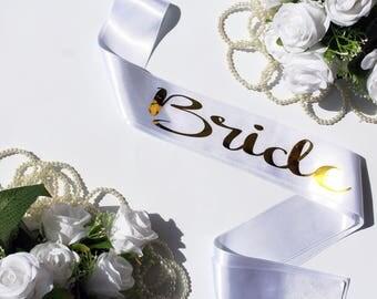 Bachelorette Sash Personalized Bridal Sash Custom Sash, Gift for Bride, Bridal Shower, Bride To Be Sash, Bachelorette Party, Weddings, BRIDE