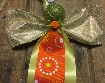 Ribbon Angel, Christmas Ornament, Tree Ornament, Angel Christmas Ornament, Angel