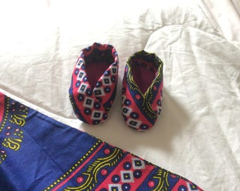 Handmade baby dress and shoes