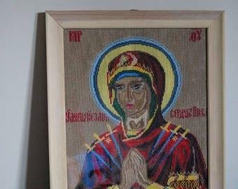 Orthodox icon - Virgin of Sorrow seven arrows