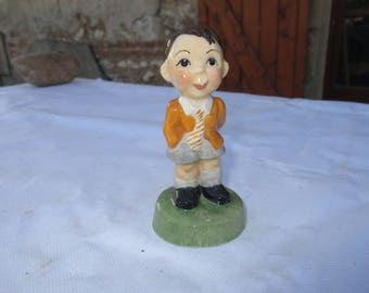 Carlton Ware KIDS - School Boy Cute Figurine.  Limited Edition 1000 No. 169.  Back Stamped. Please Read Description for Postage in Euros.