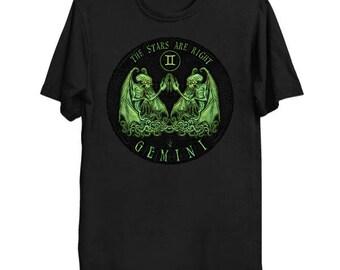 Lovecraftian Zodiac - Cthulhu Gemini Shirt, Star Sign Tee, Astrology Shirt, Cthulhu Mythos T-Shirt