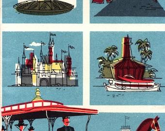 1955 Disneyland Bank of America Map Brochure