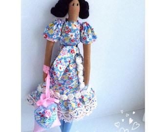 Tilda Doll Tilda Handmade Doll Textile Doll Cloth Doll Tilda doll Violetta Rag Doll