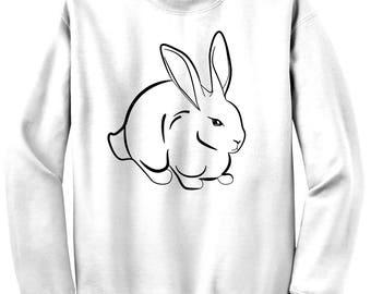 Rabbit print, Rabbit sweatshirt, Silver Rabbit, HIPHOP, golden girls, wild one, animal print, animal kingdom, cute sweatshirts, 98