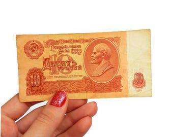 Soviet Banknotes Soviet Union Money Soviet Paper Money Soviet Era Collectible Money USSR Money Russian Money Vintage Banknote Soviet Money