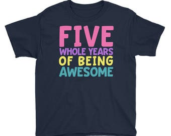 Fifth Birthday Party Shirt - Five 5 Year Old Shirt for Girls - Birthday Shirt for Girls 5 - Birthday Girl Shirt 5 Fifth Birthday Gift Shirt