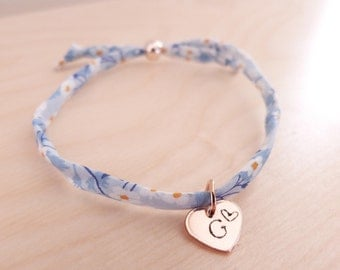 Rose Gold Heart Liberty Bracelet