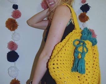 Pineapple Drawstring Backpack Beach Bag