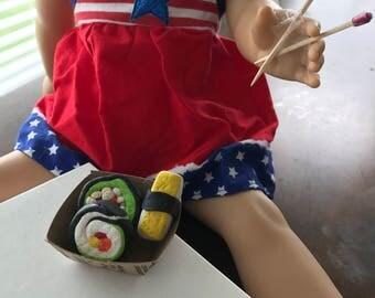 American Girl Doll Food| Sushi and Chopsticks