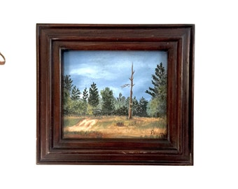 Small Oil on Canvas Painting - Artist Signed - Vintage ca. 1979