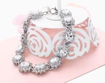 Crystal wedding accessories, rhinestone wedding bracelet, crystal bridesmaid bracelet, crystal bridesmaid jewelry, bridal crystal bracelet