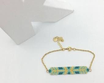 Woven bracelet 24K Gold ARROW